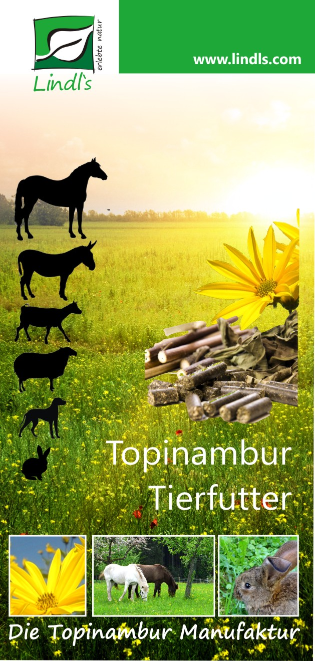 Topinambur Tierfutter Flyer